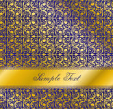 Luxury blue design. Seamless wallpaper pattern. Stock Photo