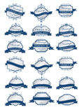 Luxury blue labels and blank labels template Royalty Free Stock Photo