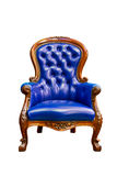 Luxury blue leather armchair isolated Royalty Free Stock Image
