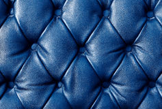 Luxury blue leather closeup background Stock Images