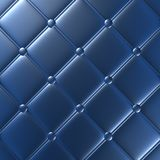 Luxury blue leather furniture, wallpaper, illustration Royalty Free Stock Images