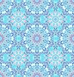 Luxury Blue Pattern Boho Flower. Blue pattern. Seamless flower background. Flourish vector. Intricate floral ornament. Pastel color illustration. Decorative Royalty Free Stock Image