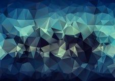 Luxury Blue  polygonal background. Triangular design. Creative Design Templates Stock Image