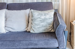 Luxury blue sofa in living room Stock Photography