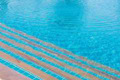 Luxury of blue swimming pool at hotel Royalty Free Stock Photo