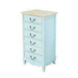 Luxury blue vintage style Bedside table Stock Photo