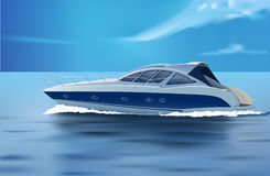 Luxury boat Stock Images