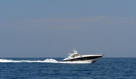 Luxury boat Royalty Free Stock Photo