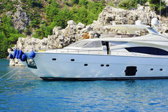 Luxury boat closeup Royalty Free Stock Photo