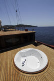 Luxury boat deck Stock Image