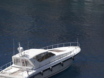 Luxury boat in Fontvieille port, Monaco. Royalty Free Stock Photography