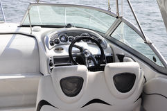 Luxury boat interior Stock Photos