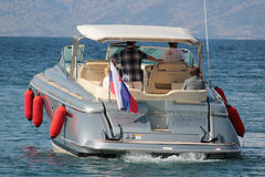 Luxury boat in Kassiopi Stock Photography