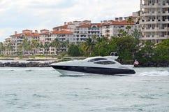 Luxury Boat and Luxury Condos Stock Photos