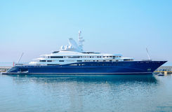 Luxury boat. View of the luxury boat in the marina Stock Images