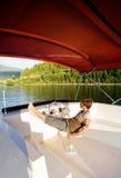 Luxury Boat Owner stock photos