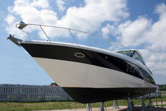 Luxury boat for sale stock photo