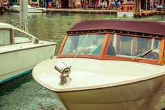 Luxury boat in Venice Stock Images