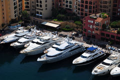 Luxury boats in Monte Carlo Royalty Free Stock Photography