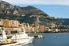 Luxury Boats, Monte Carlo, Monaco Royalty Free Stock Photos