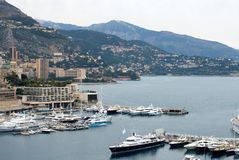 Luxury Boats, Monte Carlo, Monaco Royalty Free Stock Photo