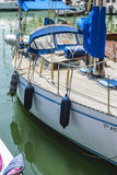 Luxury boats moored in Marbella, Spain city summer Royalty Free Stock Images