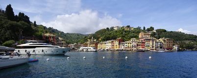 Luxury boats in the port of Portofino. Liguria region, Stock Images