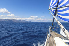 Luxury boats. Ship yachts in the open Sea. Royalty Free Stock Image