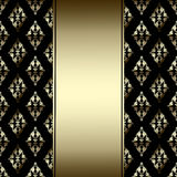 Luxury Border with golden ornament on a black background Stock Image