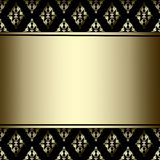 Luxury Border with golden ornament on a black background Stock Photo