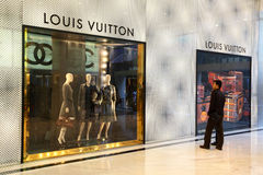 Luxury boutique in Hong Kong Royalty Free Stock Photos