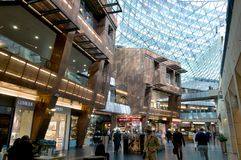 Luxury boutiques   on the floor - Golden Terrace Warsaw Stock Photography