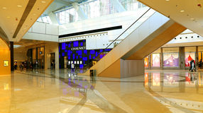 Luxury boutiques at shopping mall Royalty Free Stock Photography
