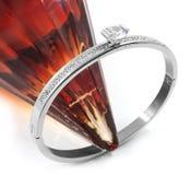 Luxury bracelet for women - Stainless Steel Stock Image
