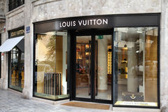 Luxury brand. VALENCIA - OCTOBER 9: Louis Vuitton store on October 9, 2010 in Valencia, Spain. Forbes says that Louis Vouitton was the most powerful luxury brand