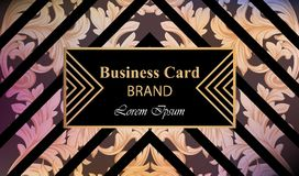 Luxury brand card with luxurious ornament Vector. Abstract background design illustration. Place for texts. Luxury brand card with luxurious ornament Vector Royalty Free Stock Photo