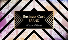 Luxury brand card with rich ornament Vector. Abstract background design illustration. Place for texts. Luxury brand card with rich ornament Vector. Abstract Stock Images