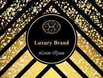 Luxury Brand card with sparkling lights Vector. Abstract modern designs backgrounds. Luxury Brand card with glitter Vector. Abstract modern designs backgrounds Stock Photo