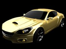 Luxury brandless sport car at black background Stock Images