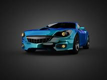 Luxury brandless sport car Stock Photos