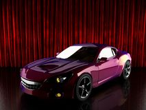 Luxury brandless sport car Stock Photo