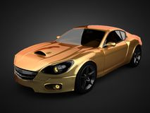 Luxury brandless sport car. 3D rendered Stock Photos