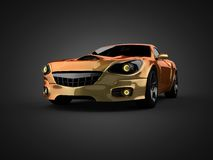 Luxury brandless sport car. 3D rendered Royalty Free Stock Photo