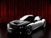 Luxury brandless sport car. 3D rendered Stock Photos