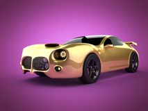 Luxury brandless sport car on pink background Stock Image