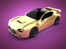 Luxury brandless sport car on pink background Stock Photography