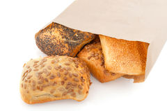 Luxury bread rolls in paper bag Royalty Free Stock Photo
