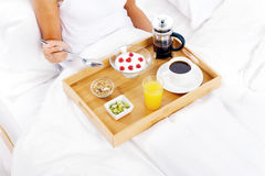 Luxury breakfast service Stock Photos