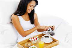 Luxury breakfast service Royalty Free Stock Image