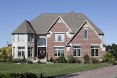 Luxury brick home Stock Images